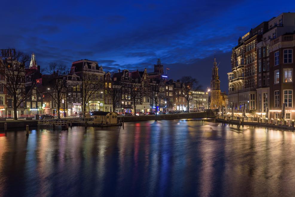Amsterdam Night lights water 2017