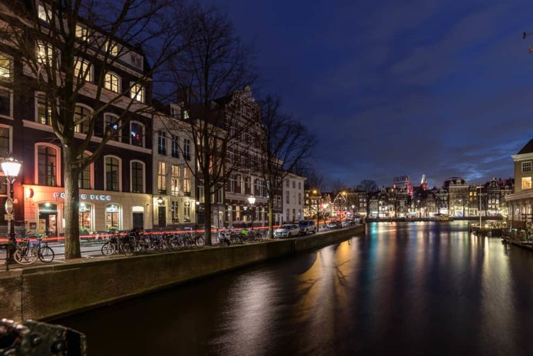 Amsterdam Night Clouds Water 39